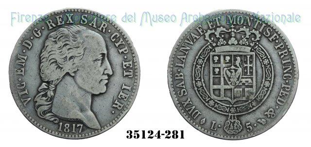 5 Lire - 1° Tipo 1817 (Torino)