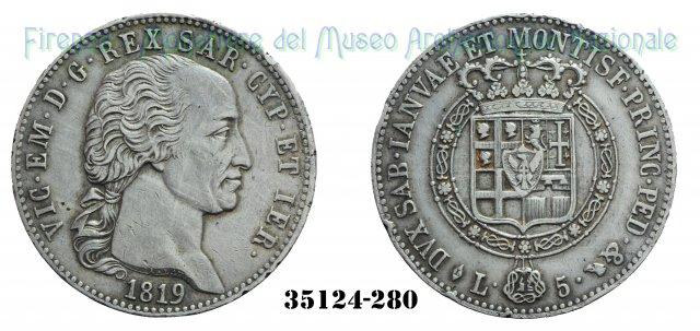 5 Lire - 1° Tipo 1819 (Torino)