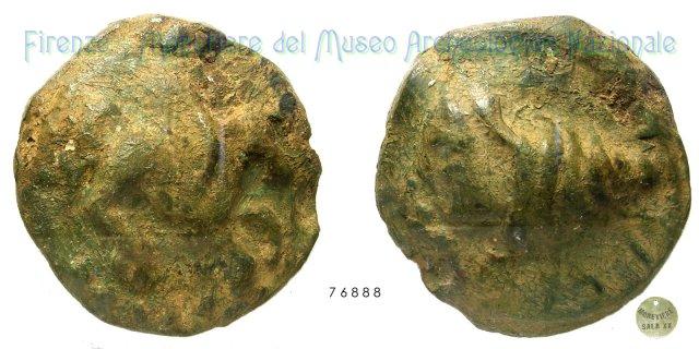 Seria Pegaso - Testa femminile in conchiglia 275-225BC (Hatria)