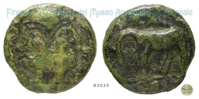 Serie Giano - Elefante (Meles?) 216-213BC (Incerta Centro Italia)