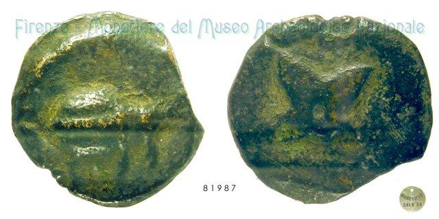 Serie Scarabeo - Fiore 280-260BC (Incerta Centro Italia)
