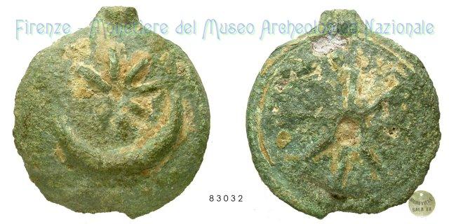 Serie Stella e crescente - Ruota 300-275BC (Incerta Centro Italia)