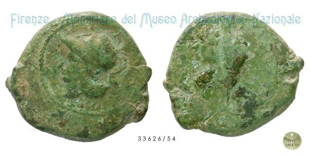 Serie Testa di Atena - Gallo 265-240BC (Aquinum)