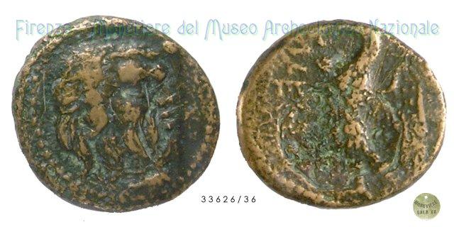 Serie Testa di Sileno - Aquila ad ali aperte 280-240BC (Tuder)