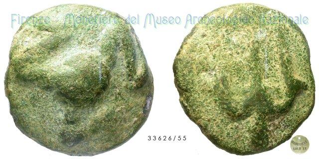 Serie Triskeles - Tridente 300-275BC (Incerta Centro Italia)