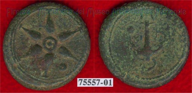 Ruota a 6 raggi / Ancora - ) (HN Italy 67) 299-200BC (Etruria Sett. Interna)