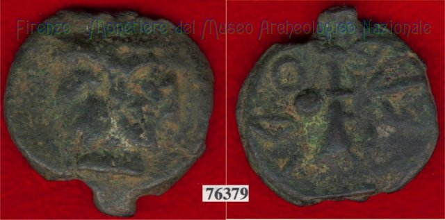 Testa di Culsans / Clava (HN Italy 109g) 299-200BC (Velathri)