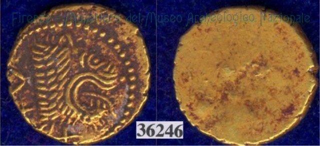 Testa di leone / senza tipo (HN Italy 128) 400BC (Pupluna)