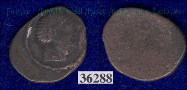 Testa giovanile / senza tipo (HN Italy 122) 400BC (Pupluna)