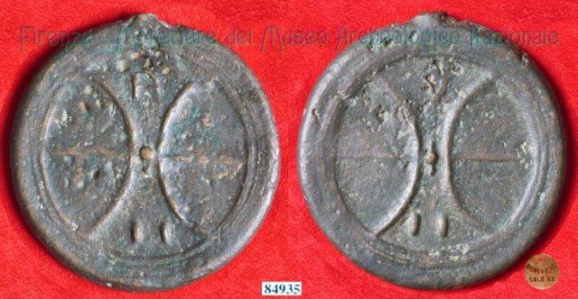 Ruota arcaica / ruota arcaica (HN Italy 63a) 299-200BC (Etruria Sett. Interna)