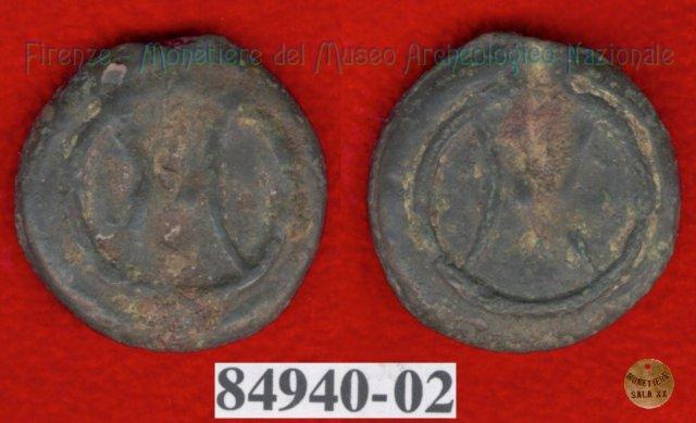 Ruota arcaica / ruota arcaica (HN Italy 63f) 299-200BC (Etruria Sett. Interna)
