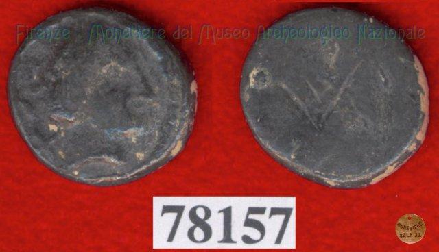 Testa di Artumes (?) / senza tipo (HN Italy 165) 400BC (Pupluna)