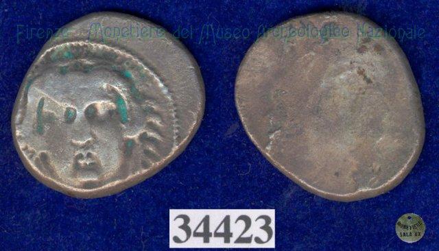Testa di Hercle / senza tipo (HN Italy 155) 400BC (Pupluna)