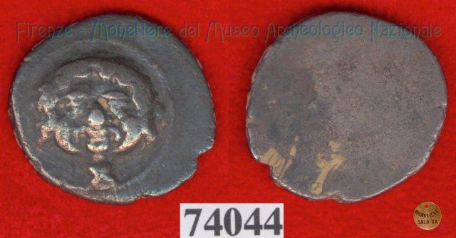 Testa di Metus / senza tipo (HN Italy 117) 400BC (Pupluna)