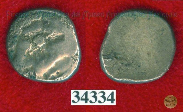 Testa di Metus / senza tipo (HN Italy 152) 400BC (Pupluna)