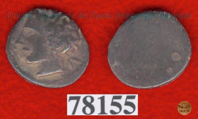 Testa maschile a s. / senza tipo (HN Italy -) 400BC (Pupluna)